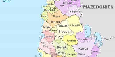Albania Mapa Mapy Albanii Europa Poludniowa Europa